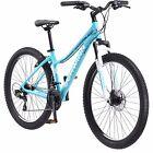 """27.5"""" Wheels Ladies Womens Mountain Bike Schwinn Disk Brake Wide Tire Light Blue"""