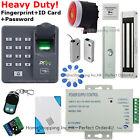 Fingerprint+RFID Card Door Access Control System+Magnetic Lock+DoorSensor+Siren!