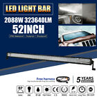 CREE 52inch 2088W Tri-row LED Light Bar Work Combo Offroad SUV Ford Truck 22/32""