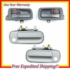 2 Inner Gray+2 Front Outside White 040 Door Handle For 92-96 Toyota Camry DS395