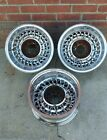 ORIGINAL MCLEAN WIRE WHEELS 14 X 7 REVERSE  CHEVY  ( 3 ONLY )