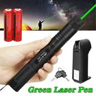 10 Miles 532nm 5mw 303 Green Laser Pointer Lazer Pen Beam Light +2*18650+Charger