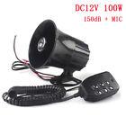 100W 12V 6 Sound Car Truck Speaker 150db Loud Siren Horn Trumpet with MIC