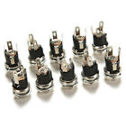 10pcs DC Power Supply Jack Socket Female Panel Mount Connector 5.5x 2.1mm SN