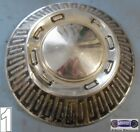 A'64-'65, FORD, USED CHROME DOG DISH HUBCAP, BLACK WORD FORD, SNAP ON, DD0064