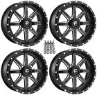 "Fuel Maverick ATV Wheels Black 16"" Sportsman 550 850 1000"