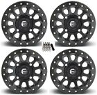 "Fuel Vector Beadlock UTV Wheels Black 14"" Yamaha Viking Wolverine"