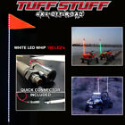 TUFF STUFF XTREME WHITE 6' LED WHIP- INCLUDES QUICK CONNECT, MOUNT & 100 LED'S