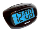 Westclox Mini Digital Alarm Clock Blue Backlight Large LCD Display Battery Power