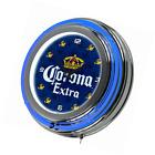 Corona Extra Chrome Double Rung Neon Clock - Griffin - by Corona