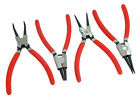 4pc Circlip Snap Ring Pliers - Internal / External / Straight / 90 Degree Tip
