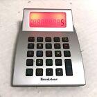 "RARE Vintage BROOKSTONE Color Changing LED Calculator 5"" X 3"" Vtg Gray"