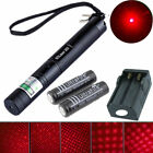 Military 5mw 650nm Red 303 Laser pen 10 Mile Visible Strong Beam + 18650 Battery