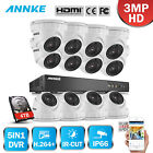 ANNKE 16CH 5IN1 3MP DVR 20+ Language Cloud Storage 12 Security Camera System 4TB