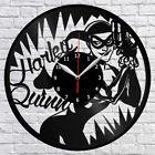 Harley Quinn Vinyl Record Wall Clock Home Decor Fan Art Original Gift #01