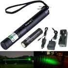 Strong 303 Green Light beam 5mW 532nm Military Laser pen 18650 Car charger
