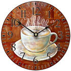 "Equity By La Crosse 404-2631c 12"" Coffee Mdf Clock, PartNo 404-2631C, by Equity"