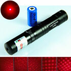 Military 650nm 5mw Red Laser Pointer Lazer Pen Beam + 16340 for Flashlight Torch