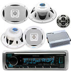"Marine Bluetooth Radio, 2x 6X9'', 2x 6.5"" Speakers, Waterproof Amp, Remote"