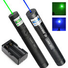 10Miles 1MW Green&Blue Visible Beam 18650 Zoomable Laser Pointer Lazer Pen