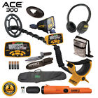Garrett ACE 300 Metal Detector with Waterproof Coil ProPointer AT and More