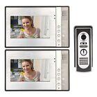KKmoon 7 Inch Video Door Phone Doorbell Intercom Kit 1-camera 2-monitor Night