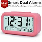 Digital Alarm Clock for Girls Kids Teens Nightlight Display Desktop Bedside Pink