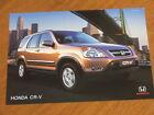 2002 Honda CR-V original Australian single page brochure