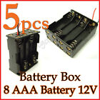5 Battery Box Holder Case 8 x AAA 3A (12V) with 6'' Leads