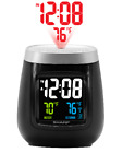 SHARP Projection Alarm Clock w Indoor & Outdoor Temp. Wireless Outdoor Sensor