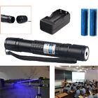 Powerful 5mw 405nm Blue Purple Laser Pointer Pen 10Miles Military+Batt+Charger
