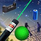 20Mile Powerful 5mw 532nm Green Laser Pointer Pen Military Star Cap+Batt+Charger