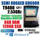 BEATS I5! MIL-STD GD6000  SEMI-RUGGED NOTEBOOK T9400 2.53Gz 6GB 128G SSD WINDOWS