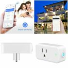 2 PCS Smart Wi-Fi Mini Outlet Plug Socket Switch Timer Electric Remote Control