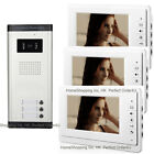 "APARTMENT 3-UNIT WIRED 7"" LCD VIDEO DOOR PHONE INTERCOM SYSTEM VIDEO INTERCOM"
