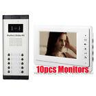 "APARTMENT 10 UNITS WIRED 7"" VIDEO DOOR PHONE INTERCOM SYSTEM VIDEO INTERCOM NEW"