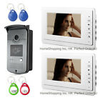 "7"" WIRED VIDEO DOOR PHONE INTERCOM SYSTEM 1V2 +RFID CARD ACCESS CONTROL CAMERA"