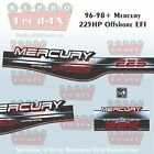 1996-98+ Mercury 225HP OS EFI Decal Offshore Outboard Reproduction 3 Pc Vinyl