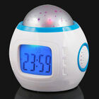 BedRoom Gift Music Kid Change Alarm Clock Sky Star Light Projector Night