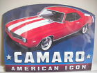 Camaro Icon EMBOSSED  Man Cave Game Room Arcade Mobil Chevy Mobil Oil Old