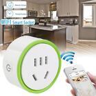 White Mini Smart Wifi Plug Remote Control Socket Power Supply Household Safety