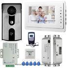 """7"""" Video Door Phone Intercom System+RFID Access Control Camera+Drop Bolt Lock"""