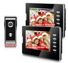 "Wired 7"" Video Door Phone Doorbell System Video Intercom+2Monitors Night Version"