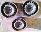 Set of three VW steel wheels Fit 195/65/15 tires Golf or Jetta and others
