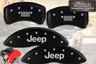 2007-2018 Jeep Compass Patriot Front + Rear Matte MGP Brake Caliper Covers Grill