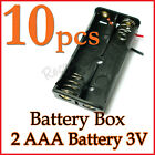 10 Battery Box Holder Case 2 x AAA (3V) with 6'' Leads