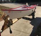 2014 Handmade Wooden Boat 13' with Trailer