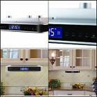 Under Cabinet FM Radio Kitchen with Bluetooth Stereo Speakers Clock Silver