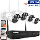 Smonet 4CH 720P HD NVR Wireless Security CCTV Surveillance Systems(WIFI NVR Kits