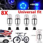 8pcs LED Bicycle Motorcycle Wheel Tyre Tire Air Valve Stem Cap Light Lamp Bulb